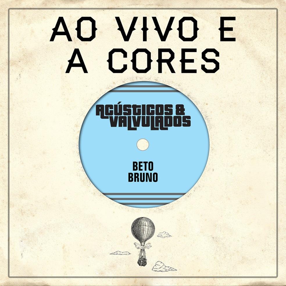 Capa do single 'Ao vivo e a cores', da banda Acústicos & Valvulados com Beto Bruno — Foto: Divulgação / Arte de Janice Alves
