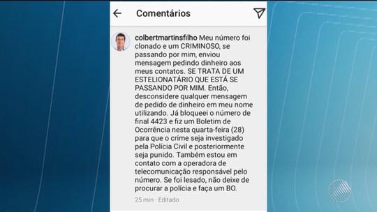 Após casos envolvendo ministros, vice-prefeitos também têm celulares clonados na BA; vítima fez depósito de R$ 3,8 mil