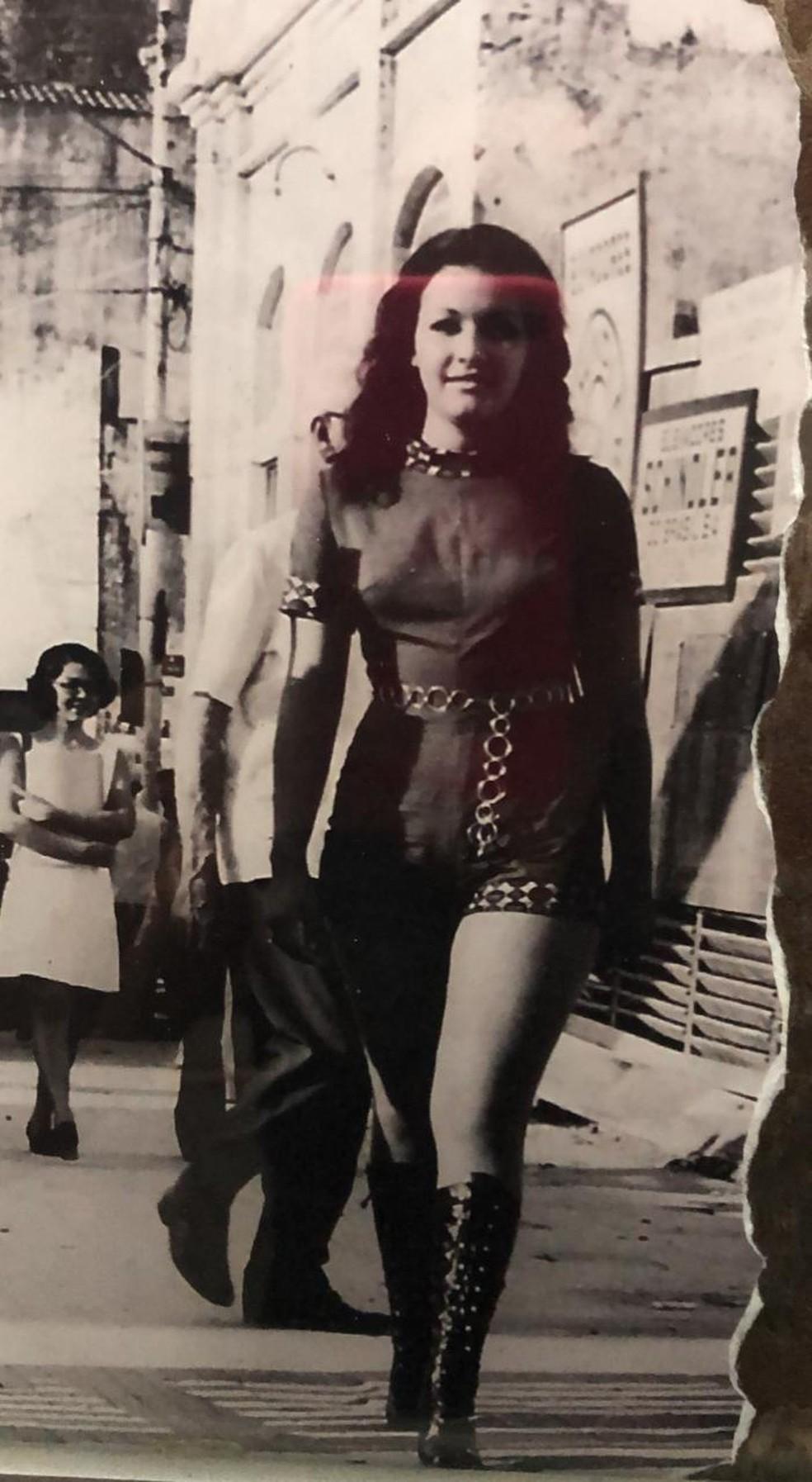 Geysa foi miss Rio Grande do Norte em 1971 — Foto: Arquivo da família