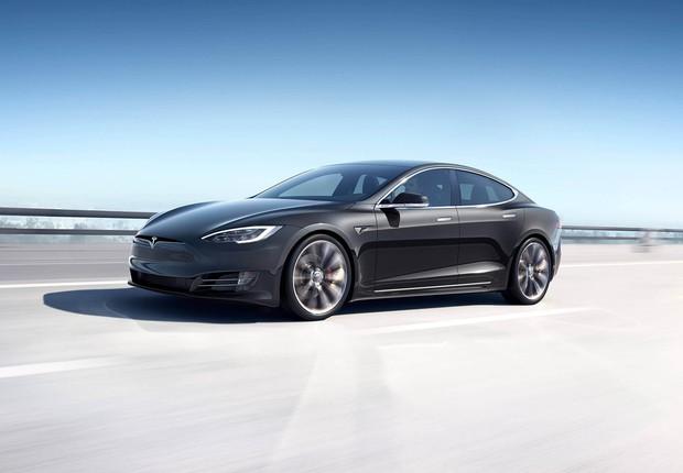 Model S, carro elétrico da Tesla (Foto: Divulgação/Tesla)