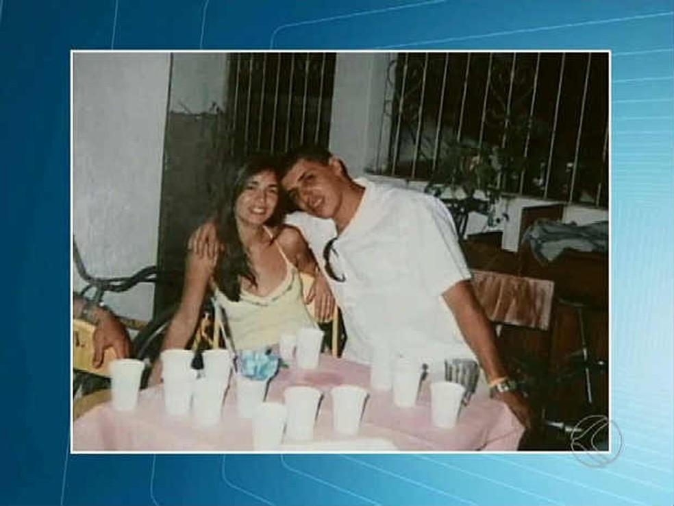Jomara e o ex-marido, que foi condenadop a 22 anos de prisão em regime fechado (Foto: Reprodução/ TV Integração)