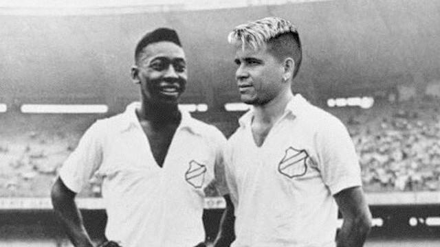 Montagem de Soteldo ao lado de Pelé no Maracanã