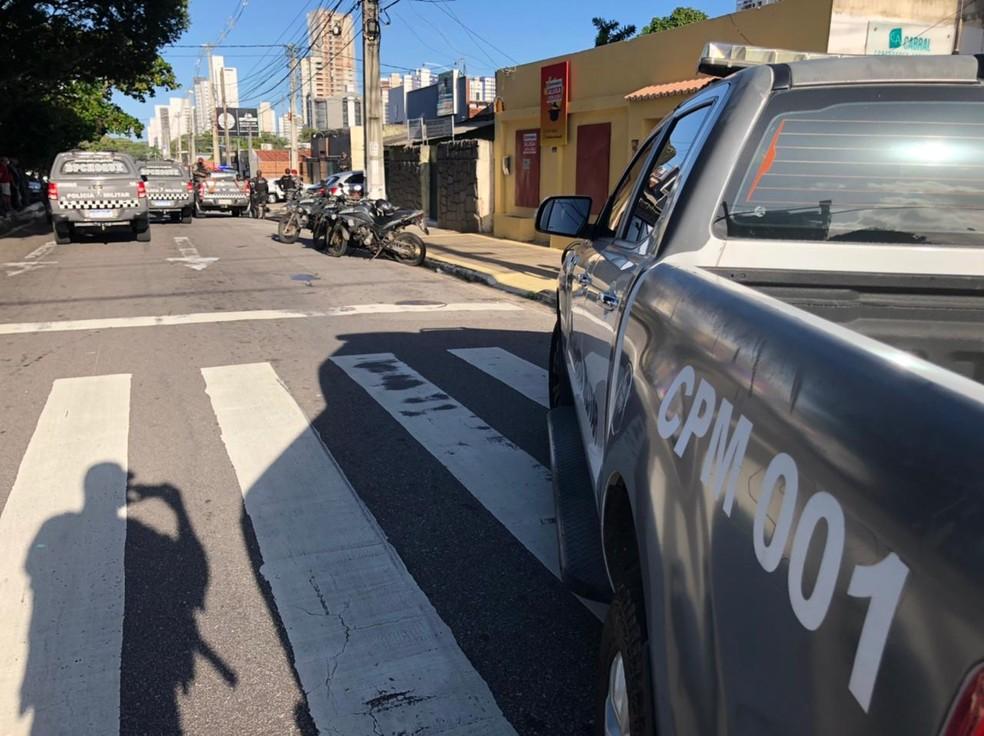 Crime aconteceu na avida Nascimento de Castro, na Zona Sul de Natal — Foto: Divulgação/PM