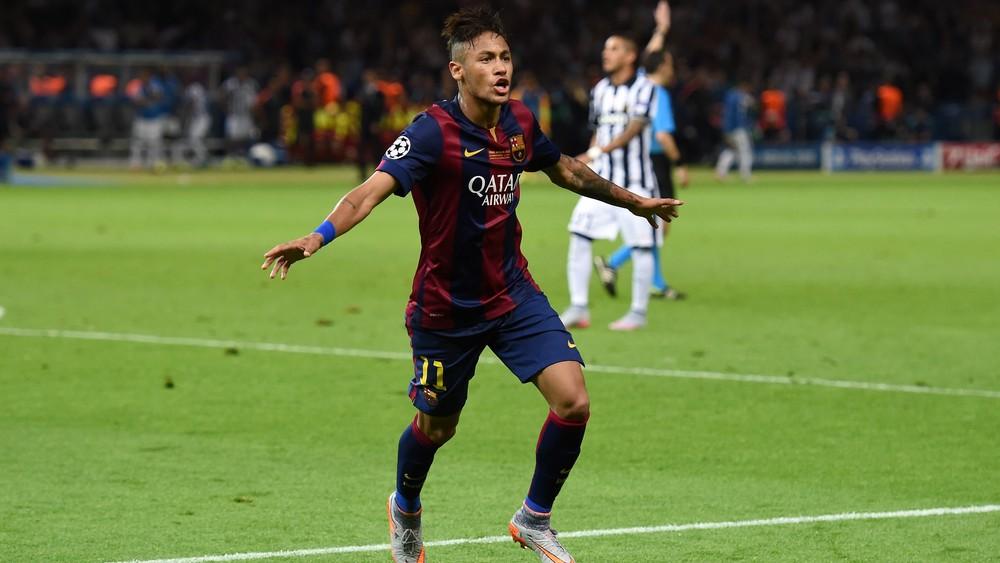 Neymar fechou a conta no jogo do título do Barcelona sobre a Juventus e ainda se igualou a Messi e Cristiano Ronaldo na artilharia em 2015