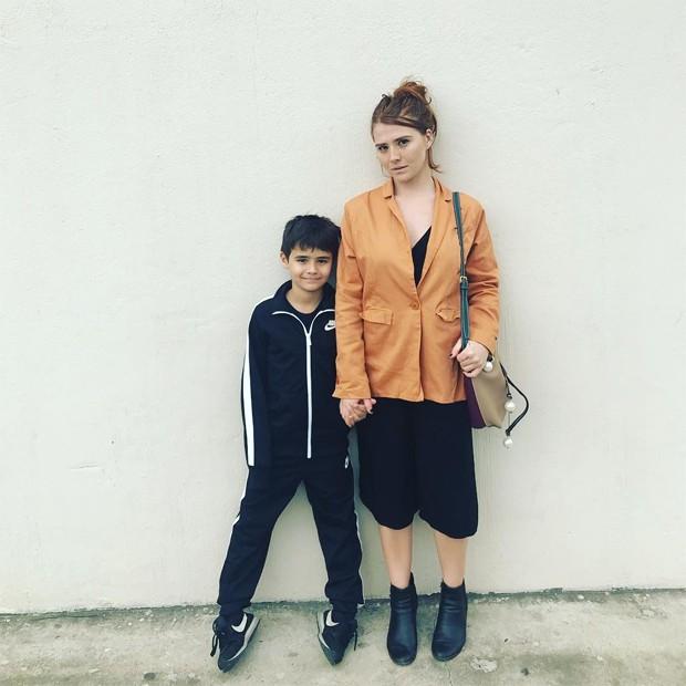 Mariah de Moraes e o flho, João Pedro (Foto: Reprodução/Instagram)