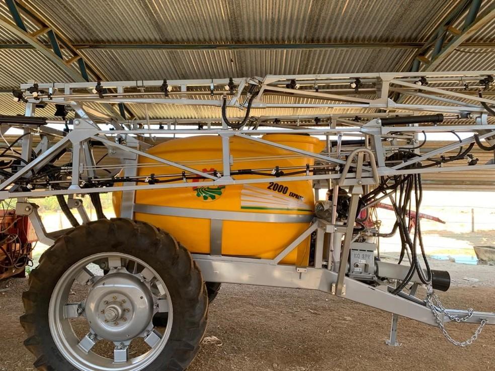 Máquina recuperada em Operação 'Carga Pesada' — Foto: Polícia Civil/Divulgação