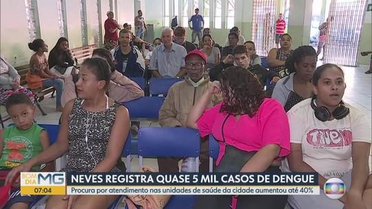 Quase 5 mil casos de dengue são registrados em Ribeirão das Neves, na Grande BH
