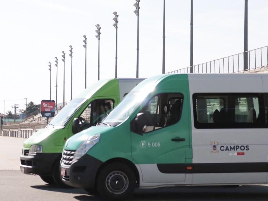 Novas vans e micro-ônibus começam a circular em Campos, no RJ - Notícias - Plantão Diário