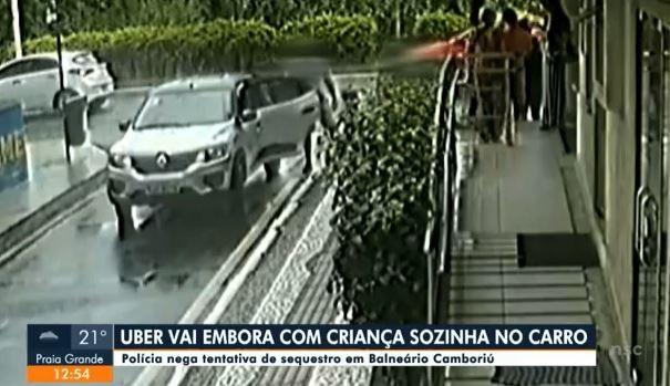 Motorista de aplicativo nega corrida à família de turistas e arranca carro com criança dentro; polícia de SC investiga