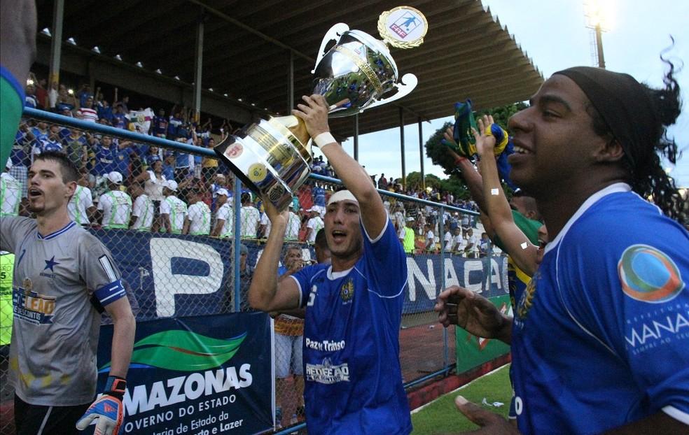 Nacional foi campeão amazonense em 2014 e 2015, mas vive jejum de dois anos sem títulos (Foto: Isabella Pina)