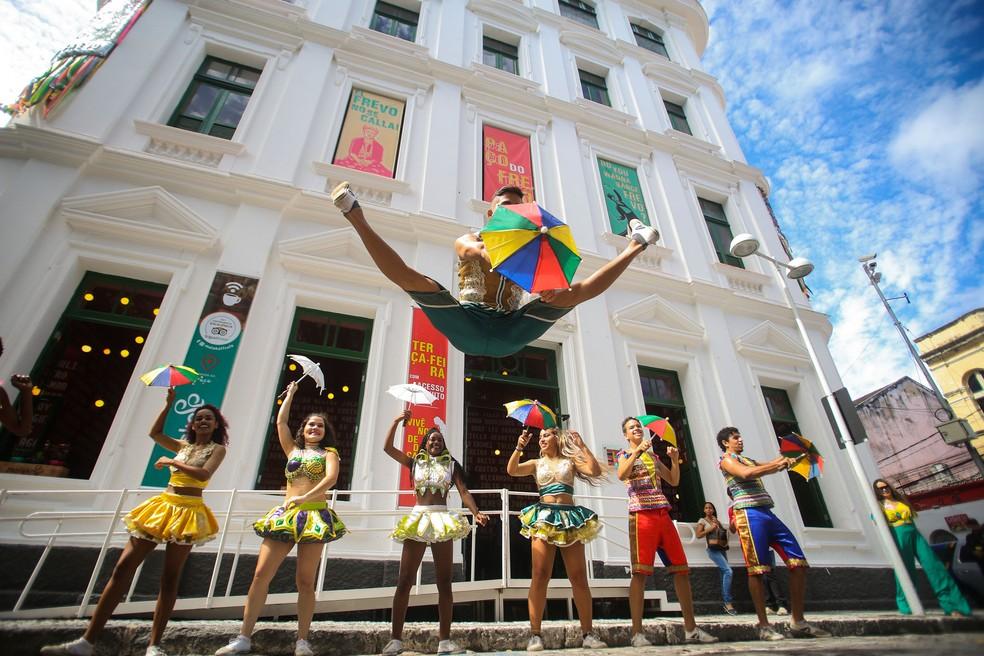 Paço do Frevo comemora Dia do Frevo e aniversário de 5 anos do museu com atrações gratuitas — Foto: Bruno Campos/Divulgação