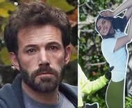 Ben Affleck é visto abatido e joga no lixo totem de papelão da ex, Ana de Armas