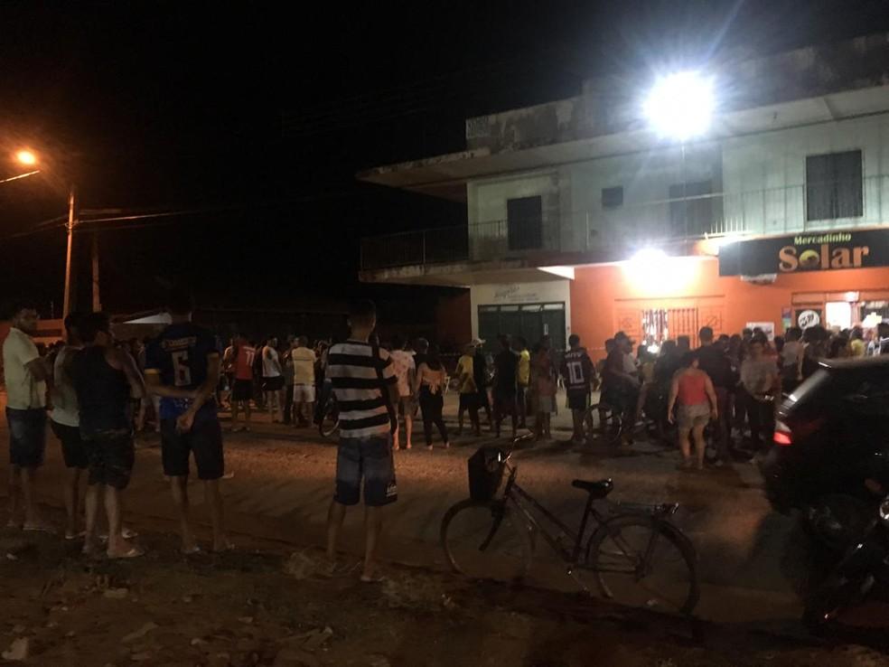Crime assustou moradores da região norte de Palmas — Foto: Guilherme Lima/TV Anhanguera