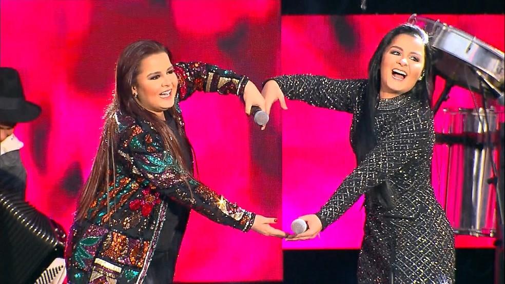 Maiara & Maraísa no Festeja Belo Horizonte (Foto: Reprodução/TV Globo)