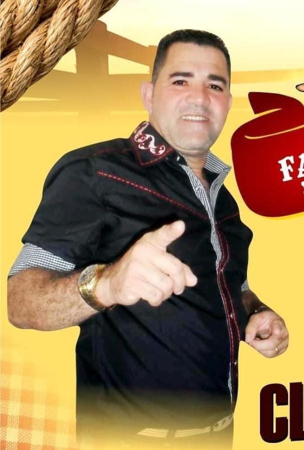 Ex-vocalista da banda Noda de Caju, Claudinho — Foto: WhatsApp/Reprodução