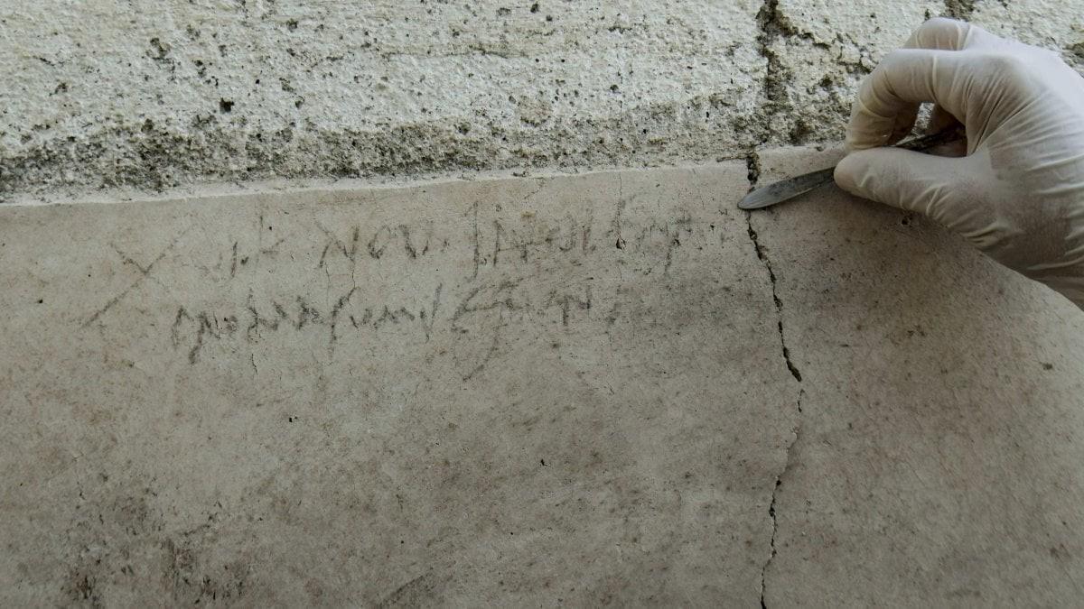 Inscrição em muro de Pompeia é encontrada (Foto: Repubblica Napoli)