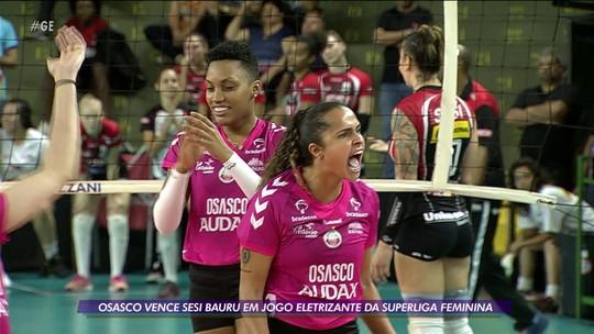 Osasco vence Sesi Bauru em jogo eletrizante da Superliga feminina