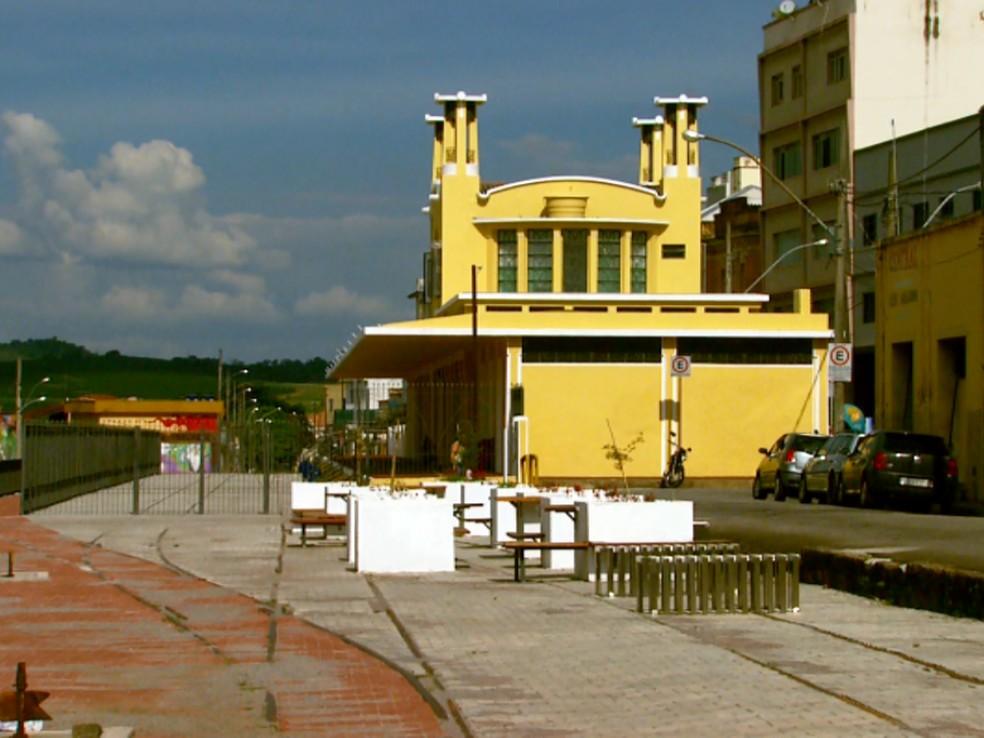 Antiga Estação Ferroviária de Varginha— Foto: Reprodução / EPTV