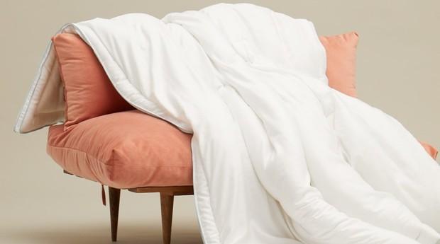 Buffy vende edredons e travesseiros em seu site (Foto: Divulgação)