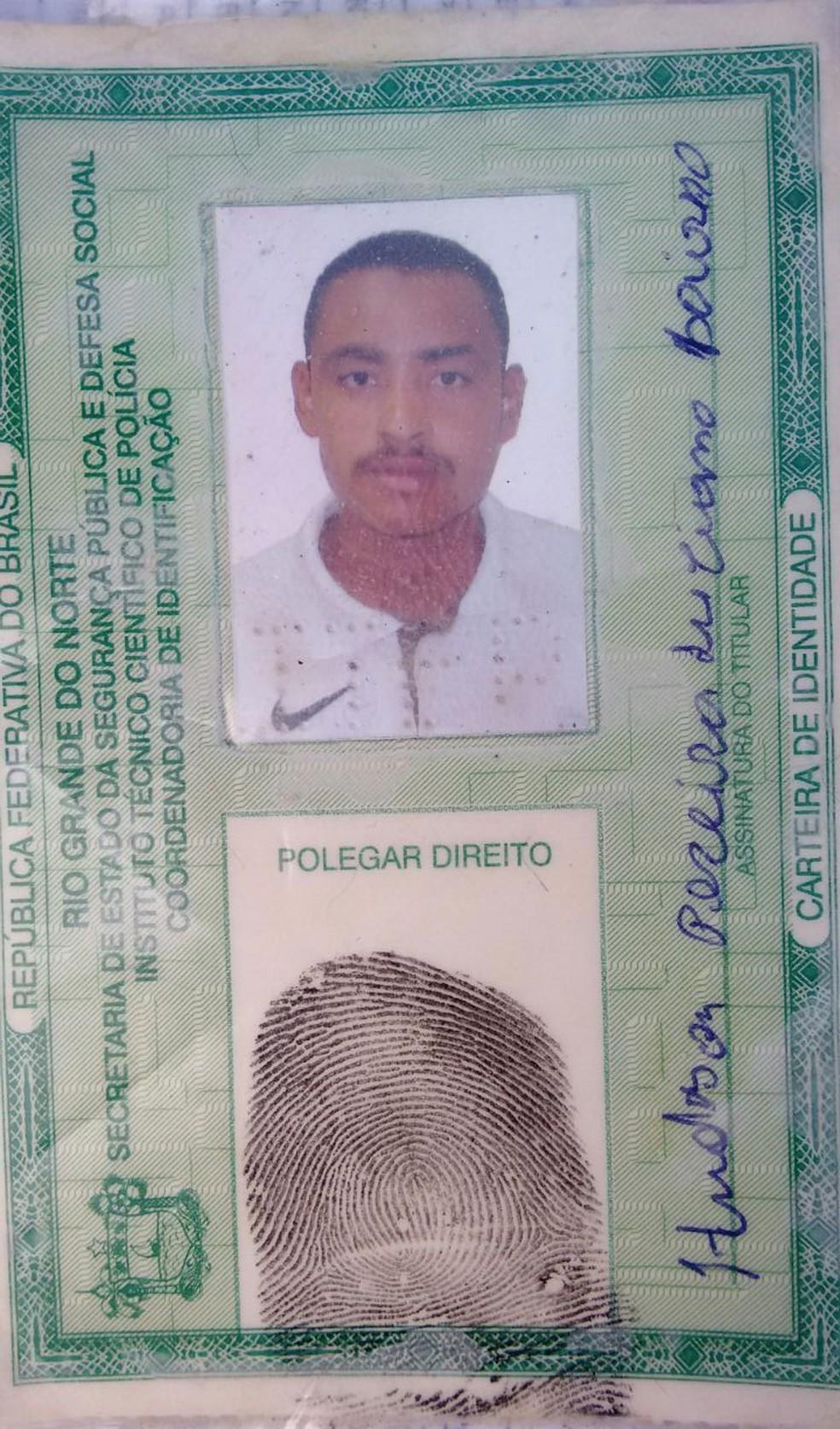 Hudson Pereira foi morto a tiros em Ceará-Mirim (Foto: Divulgação/PM)