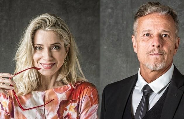 O romance de Marcello Novaes e Letícia Spiller começou nos bastidores de 'Quatro por quatro', em 1994. Eles ficaram casados por quatro anos e são pais do ator Pedro Novaes. Os dois já tinham feito 'Sol nascente' e se reencontraram em 'O Sétimo Guardião' (Foto: Divulgação)