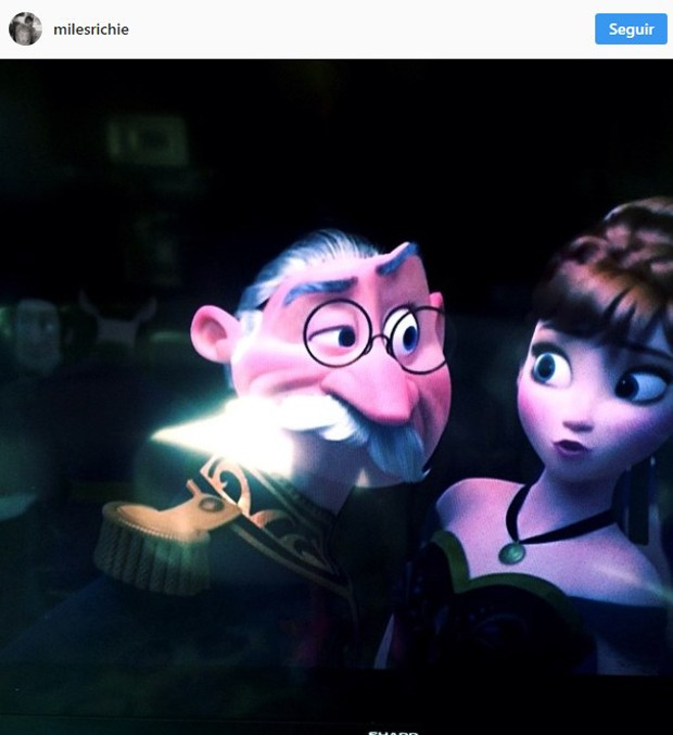 Um dos filmes preferidos de Miles Richie é Frozen (Foto: Reprodução/Instagram)