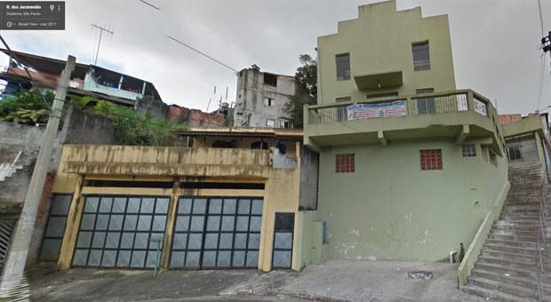 Veja como era a fachada original da igreja evangélica que desabou em Diadema (Foto: Reprodução/Google Street View)