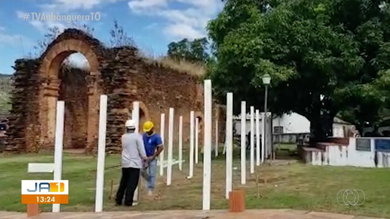 Cidade mais antiga do Tocantins completa 286 anos e ruína de igreja construída por escravos passa por revitalização