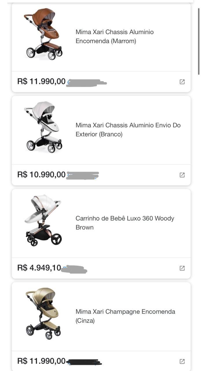 Carrinho importado pode chegar a quase R$ 12 mil no Brasil (Foto: Reprodução/Instagram)
