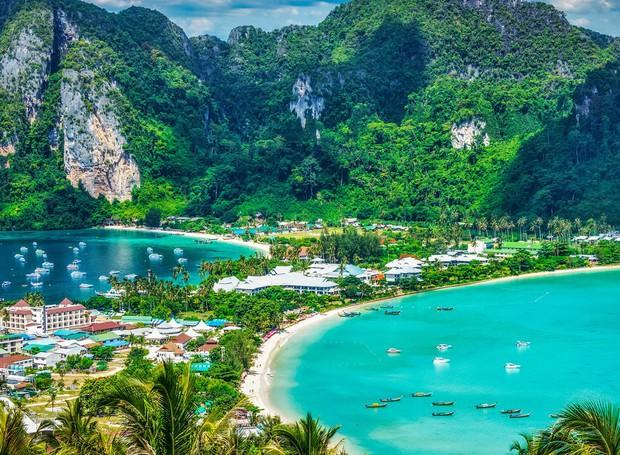 Ko Phi Phi, na Tailândia (Foto: Shutterstock/ Reprodução)