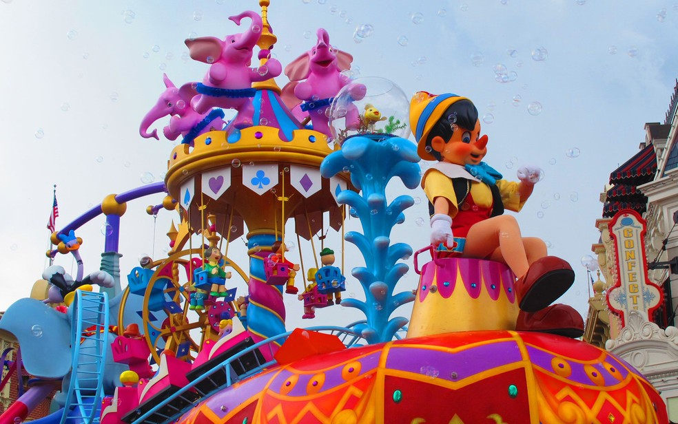 O Magic Kingdom fica em Orlando, nos EUA, e é o parque mais visitado do mundo — Foto: Flávia Mantovani/G1