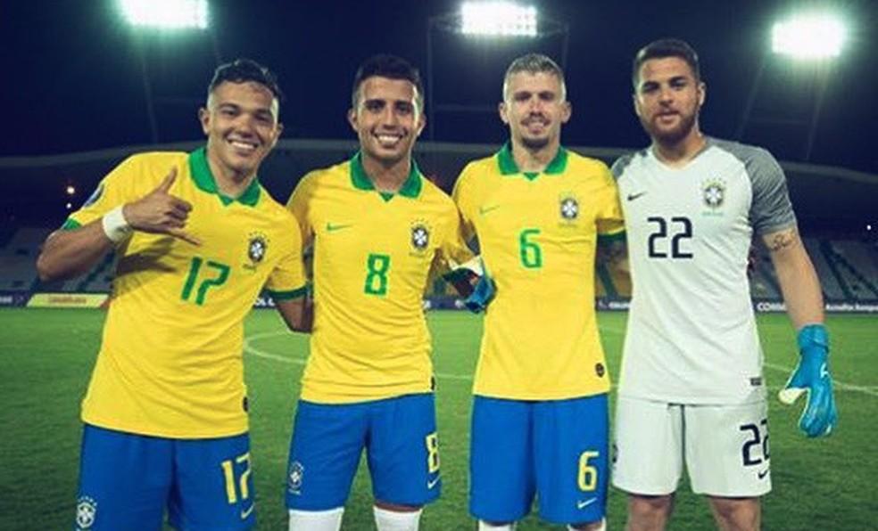 Pepê, Matheus Henrique, Caio Henrique e Phelipe no Pré-Olímpico — Foto: Divulgação