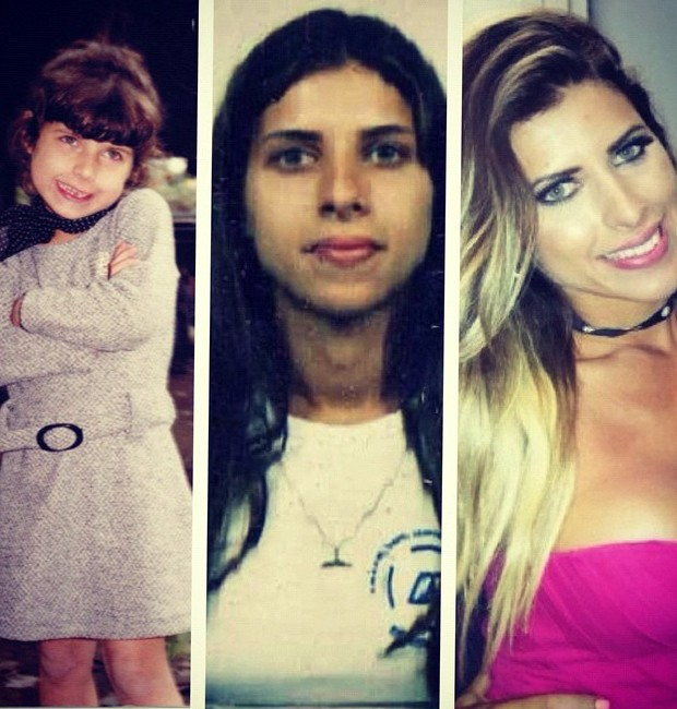 Ana Paula Minerato em três fases: na infância, na adolescência e aos 20 anos (Foto: Reprodução/Instagram)