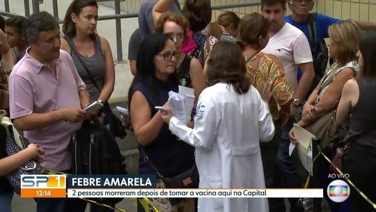 SP confirma 2 mortes por reação à vacina da febre amarela