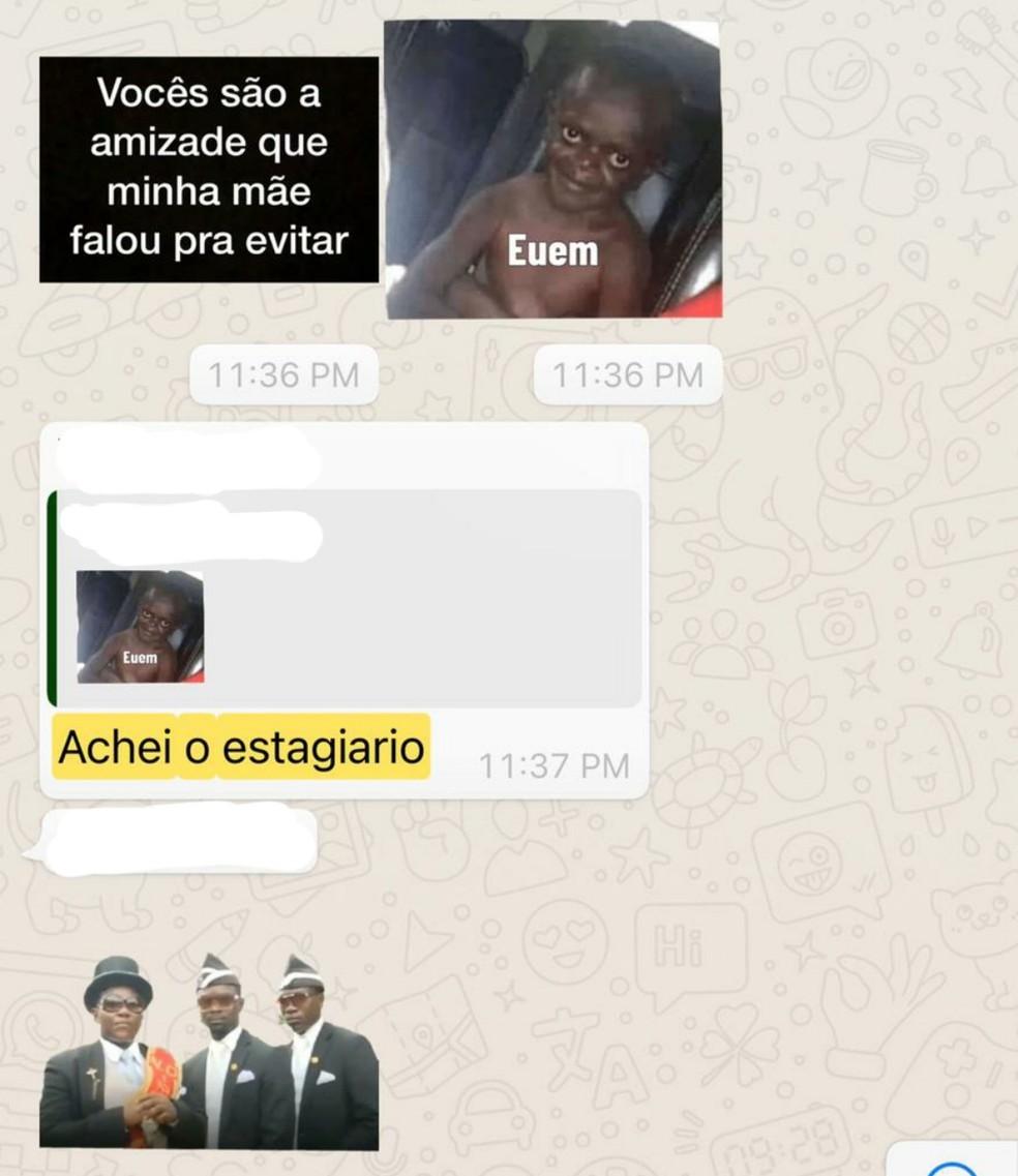 Escritório de advocacia posta vagas para estagiários negros nas redes sociais e advogados fazem piadas racistas, no DF. — Foto: Reprodução