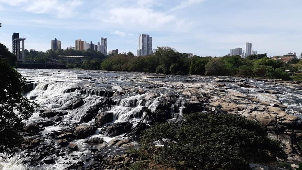 Nível do Rio Piracicaba está 70% abaixo da média histórica para junho — Foto: Edijan Del Santo/EPTV