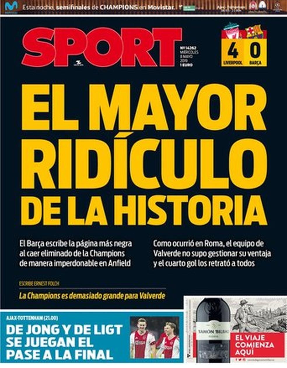 Sport Liverpool x Barcelona  — Foto: Reprodução
