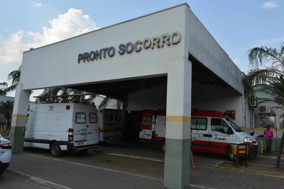 -  Vigilante foi socorrido e levado ao Hospital e Pronto Socorro João Paulo II  Foto: Matheus Henrique