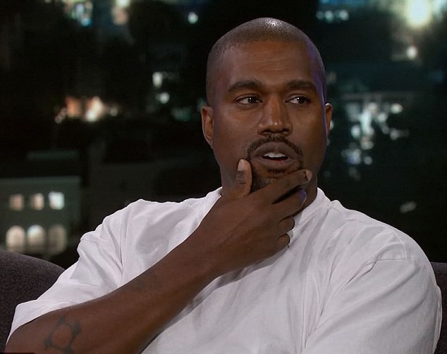 Kanye West em participação no programa de Jimmy Kimmel (Foto: Divulgação)