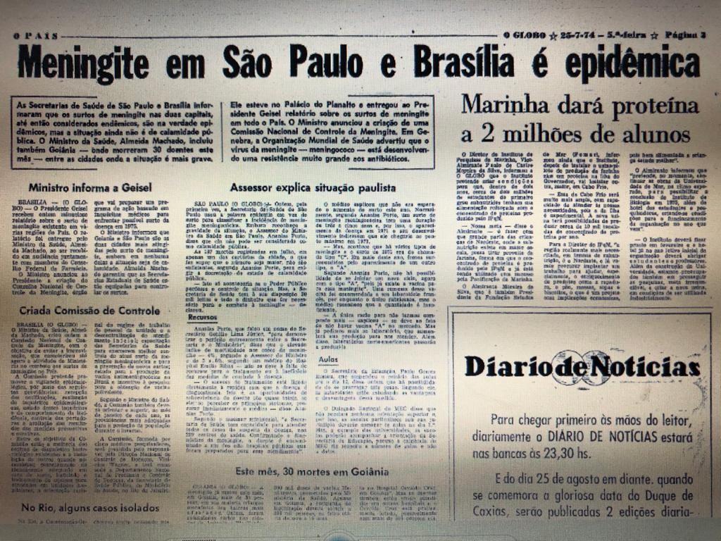 Página do GLOBO de 25 de julho de 1974
