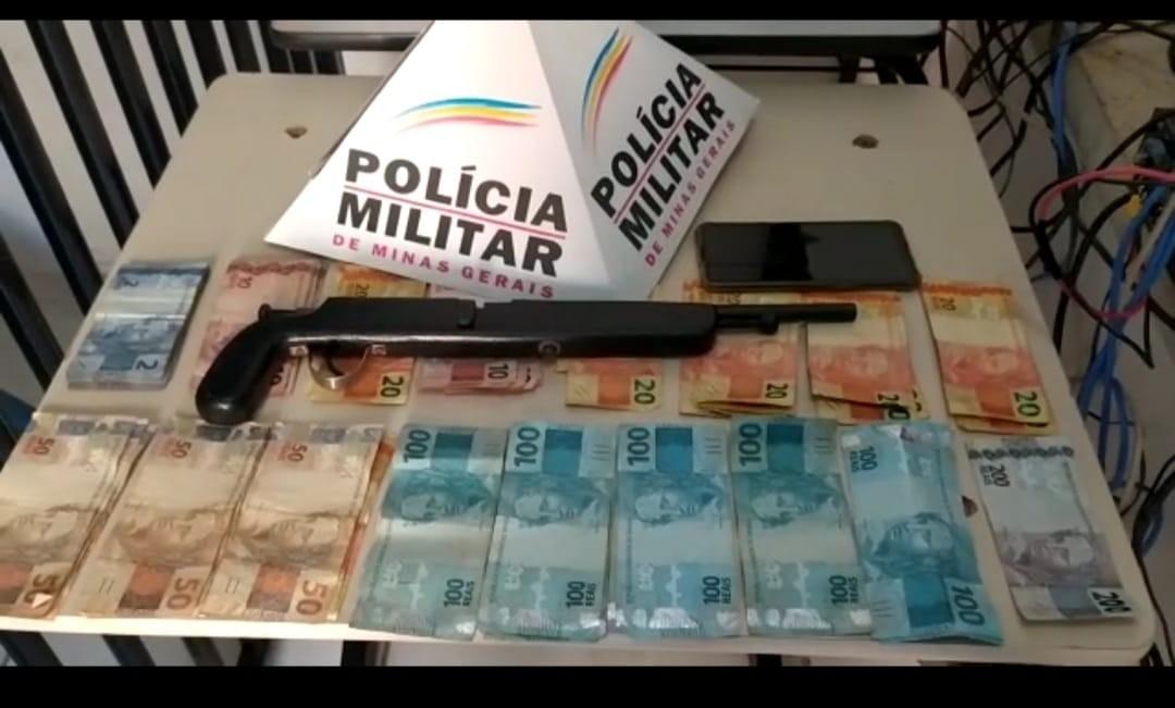 Casal de namorados é preso após assaltar posto de combustíveis em Dom Bosco; frentista foi rendido com uma garrucha
