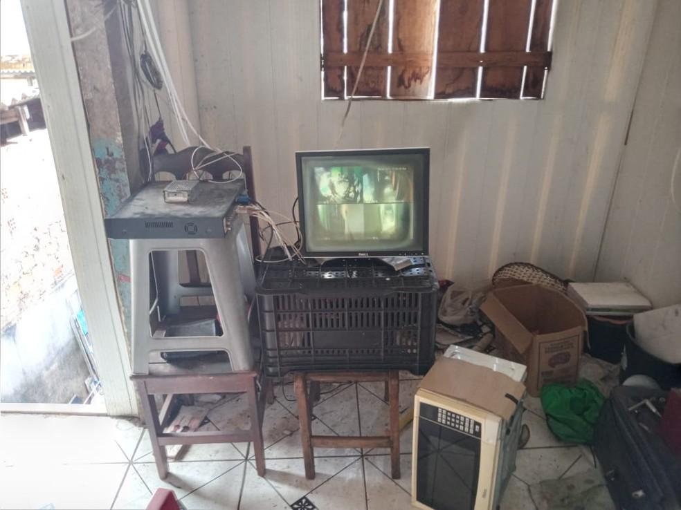 Há suspeitas de que o local era foco de usuários de drogas em Porto Velho — Foto: Polícia Civil/Divulgação