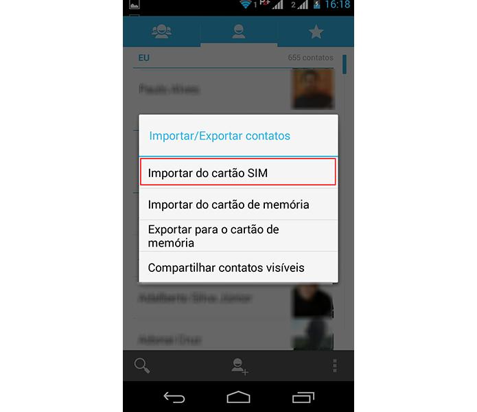 Escolha importar do cartão sim para continuar (Foto: Reprodução/Paulo Alves)