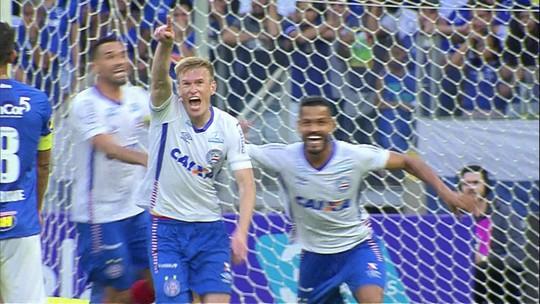 """Grolli celebra gol e revela superstição: """"Arruda e a 'lei do ex' juntas não falham"""""""