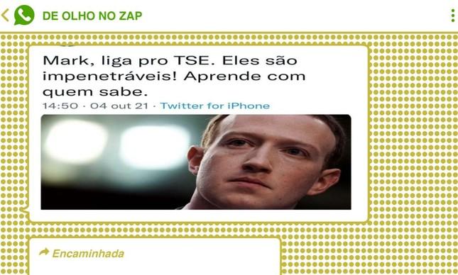 Bolsonaristas também dispararam ironias contra o STF e o TSE