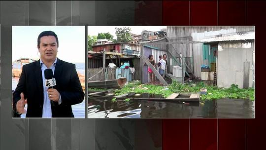 Nível do Rio Negro em Manaus atinge cota de emergência para inundações