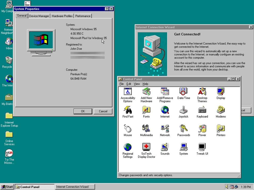 Arquitetura de 32 bits surgiu no Windows 95 — Foto: Reprodução/Filipe Garrett