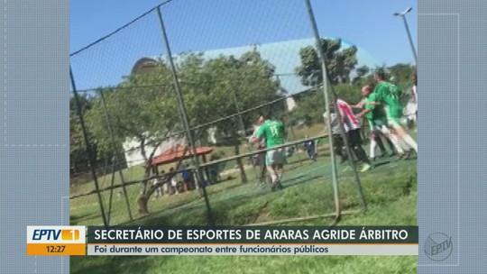Secretário de Esportes de Araras agride árbitro durante partida