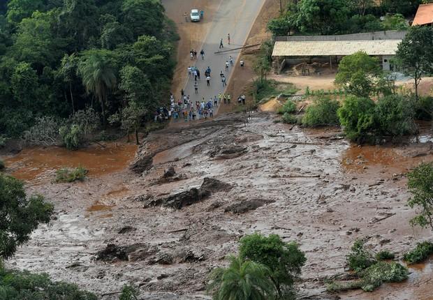 Vista aérea do rompimento da barragem de Feijão, da Vale, em Brumadinho (MG) (Foto: REUTERS/Washington Alves)