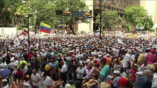 Oposição convocada por Guaidó protesta contra Maduro na Venezuela